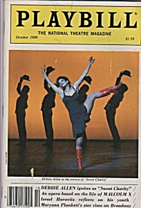 Playbill magazine - October 1986 -DEBBIE ALLEN (Image1)