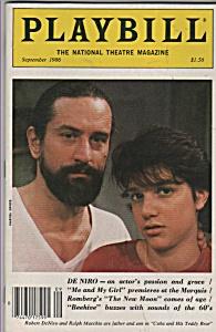 Playbill magazine- Sep[tember 1986 ROBERT DE NIRO (Image1)