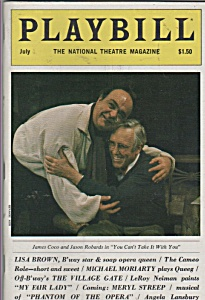 Playbill Magazine -july 1983 - James Coco - Jason Roba