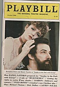 Playbill  - Octcober 1984 - BERNADETTE PETERS -MANDY PA (Image1)