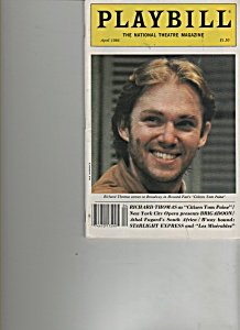 Playbill - April 1986  RICHARD THOMAS (Image1)