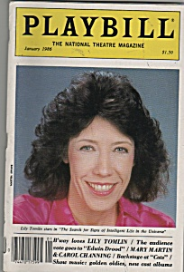 Playbill mag - LILY TOMLIN - January 1986 (Image1)