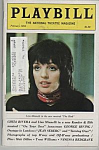 Playbill magazine- LIZA MINELLI  -  February 1984 (Image1)