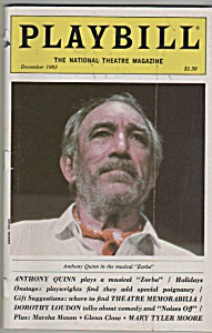 Playbill magazine- ANTHONY QUINN - December 1983 (Image1)