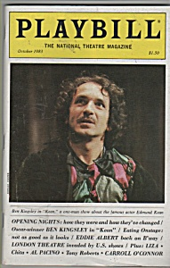 Playbill magazine - BEN KINGSLEY  - October 1983 (Image1)