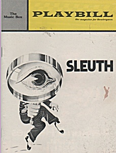 SLEUTH  Program-  Playbill   -1971-PATRICK MACNEE (Image1)