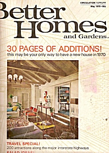Better Homes And Gardens - May 1970