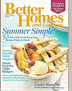 Better Homes & Gardens Magazine-= August 2008