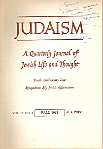 Judaism -   Journal  - Fall 1961 (Image1)
