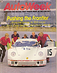 Auto Week magazine -  November 10, 1986 (Image1)