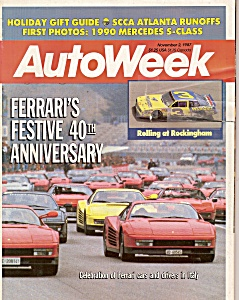 Auto Week magazine -  November 2, 1987 (Image1)