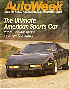 Auto Week magazine -  November 17, 1986 (Image1)