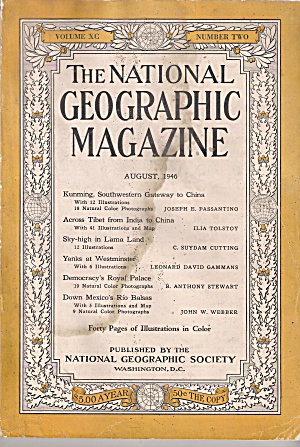 THE NATIONAL GEOGRAPHIC MAGAZINE - AUGUST 1946 (Image1)