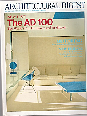 Architectural Digest - January 2004
