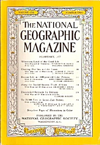 National Geographic magazine -  February 1957 (Image1)