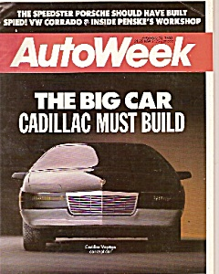 Autoweek Magazine- February 15, 1988
