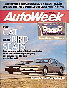 Auto Week magazine -  February 20, 1989 (Image1)