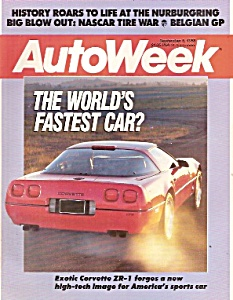 Auto Week Magazine - Sept. 5, 1988