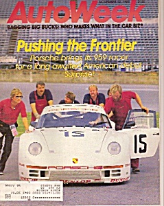 Autoweek Magazine - November 10, 1986