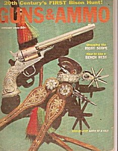 Guns & Ammo magazine - January 1960 (Image1)
