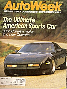 Autoweek Magazine - November 17, 1986