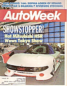 Autoweek - Magazine - November 16, 1987