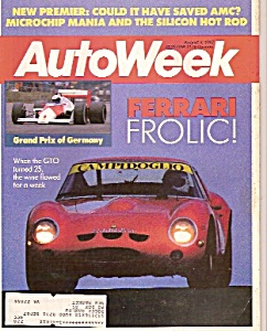 Auto Week magazine -  August  3 , 1987 (Image1)