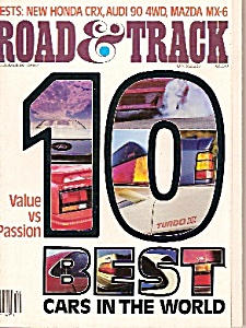 Road & Track magazine -December 1987 (Image1)