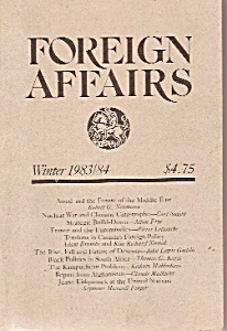 FOREIGN AFFAIRS booklet/magazine -  Winter 1983=84 (Image1)