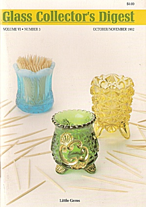 Glass collectors digest - Oct/ Nov. 1992 (Image1)