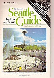 SEATTLE, WASHINGTON GUIDE - 1982 (Image1)