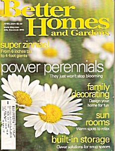 Better Homes and Gardens -  April 2001 (Image1)