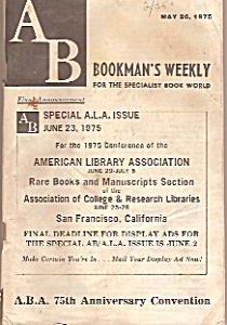 Bookman's Weekly = May 26, 1975
