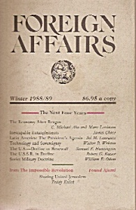 Foreign Affairs Book/magazine - Winter 1988/89