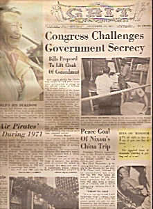 GRIT  NEWSPAPER -   December 12, 1971 (Image1)