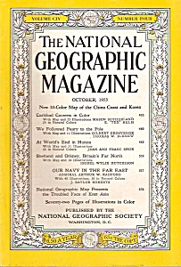 National Geographic magazine -  October 1953 (Image1)