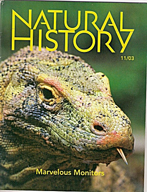 Natural History Magazine -  November 2003 (Image1)