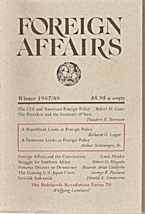 Foreign Affairs Book Magazine - Winter 1987-88