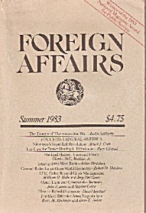 Foreign Affairs Book/magazine - Summer 1983