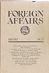 Foreign Affairs  book/magazine   Fall 1983 (Image1)