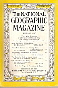 The National Geographic magazine-  January 1954 (Image1)