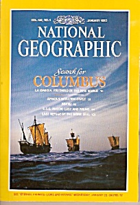 National Geographic magazine - January 1992 (Image1)