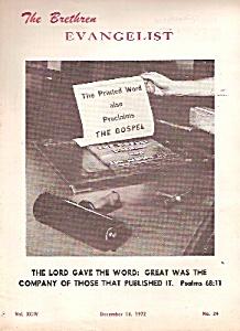 The Brethren Evangelist -  Decem ber 16, 1972 (Image1)