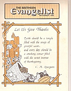 The Brethren evangelist -[  November 1988 (Image1)