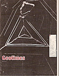 GeoTimes magazine - July 1978 (Image1)