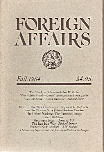 Foreign Affairs book/magazine -  Fall 1984 (Image1)