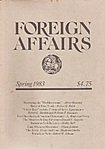 Foreign Affairs book/magazine -  Spring 1983 (Image1)