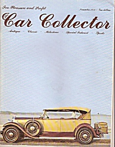 Car Collector Magazine - November 1978