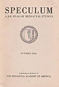 Speculum(Mediaeval studies) magzine/book  October 1964 (Image1)