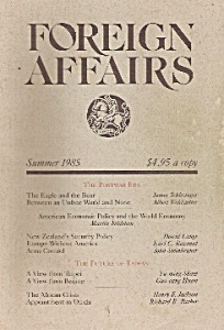 Foreign Affairs Book Magzine- Summer 1985